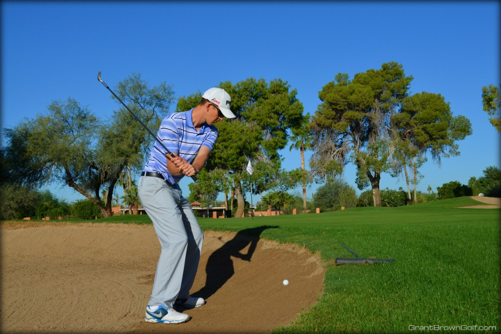 sand ball above downswing