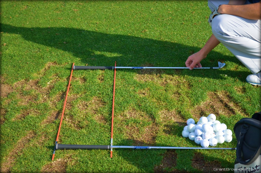 Lining up measuring alignment rods
